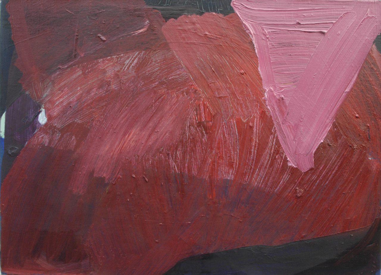 triangolo rosa, 2014, Papier auf Leinen, 40 x 55 cm