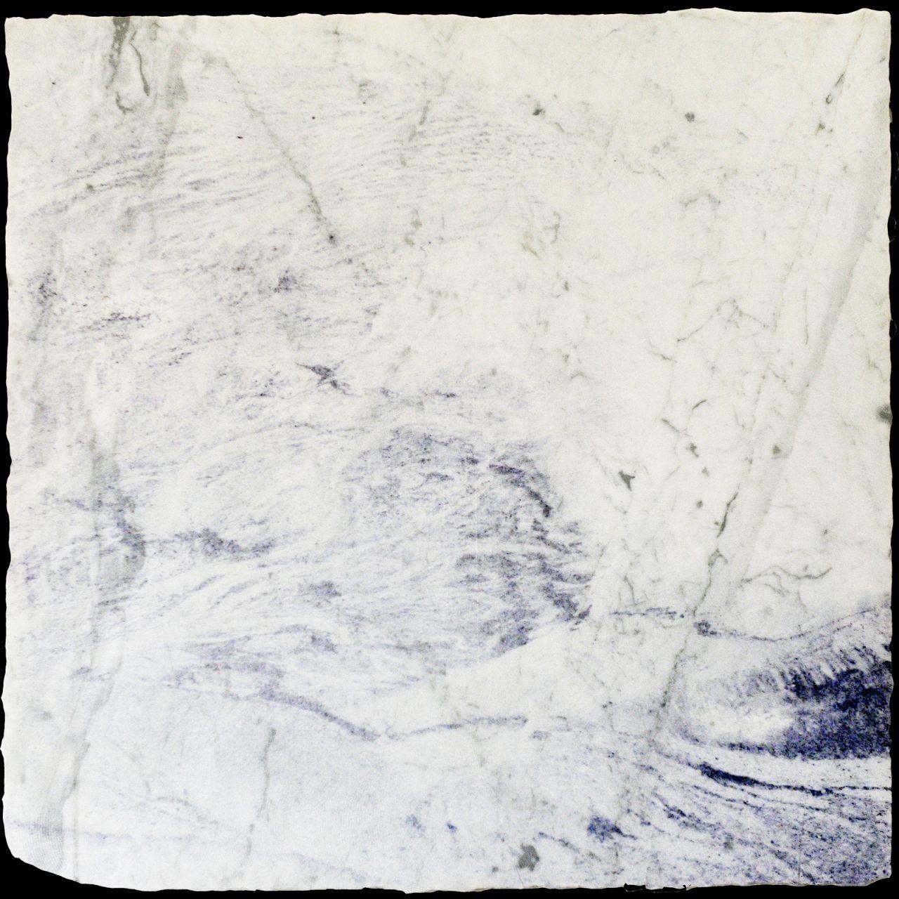 Toxic Craters III, Indonesia 2019, laser prints on Italian Carrara marble, 60,5 x 59 cm