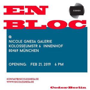 EN BLOC @ Galerie Nicole Gnesa, Munich Image