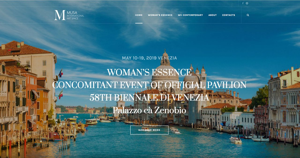 WOMAN'S ESSENCE SHOW concomitant event of Official Pavilion 58th Biennale di Venezia