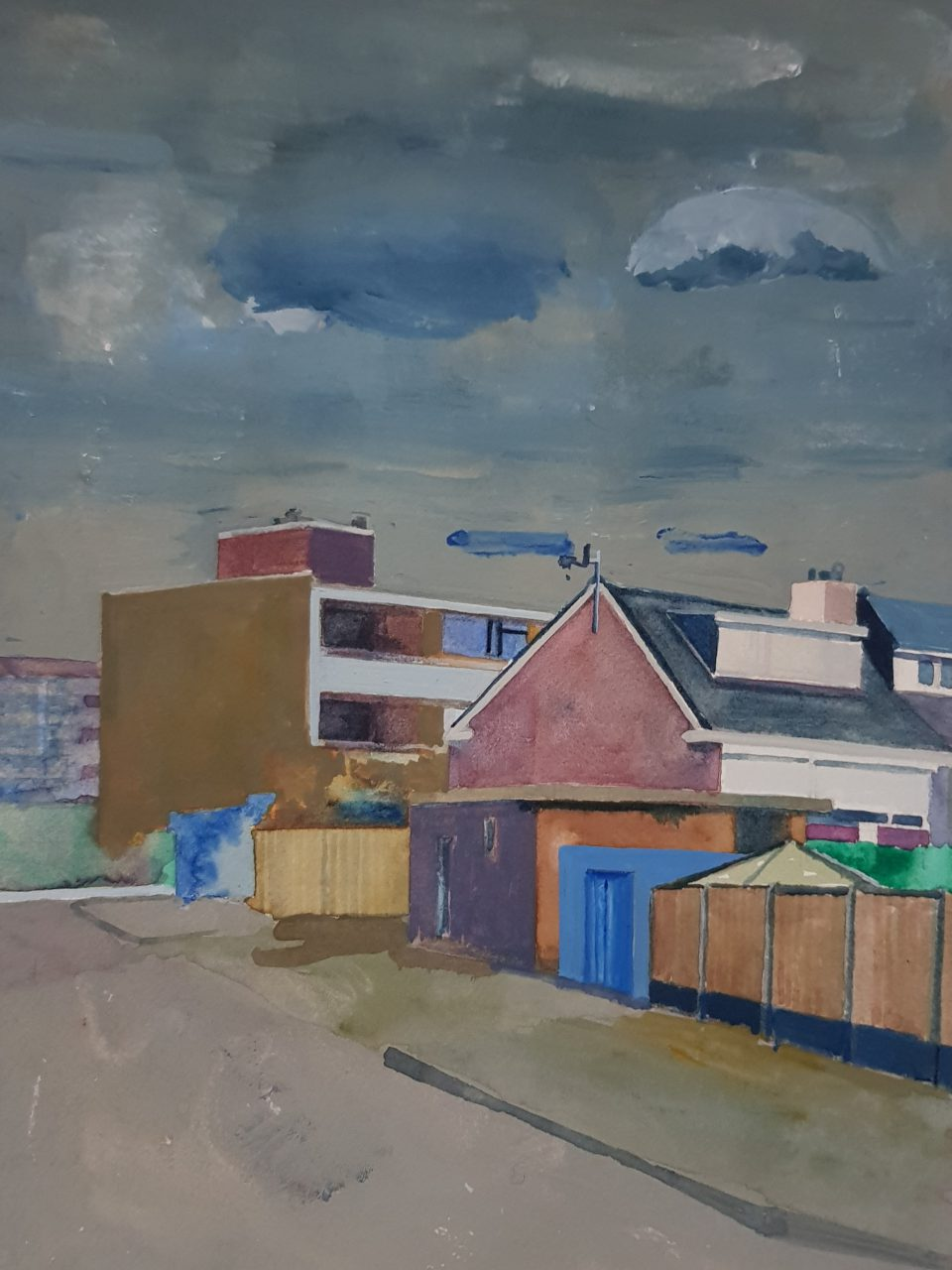 Randstad Suburbs, 2019. Watercolor and gouache on paper, size: 31x23cm