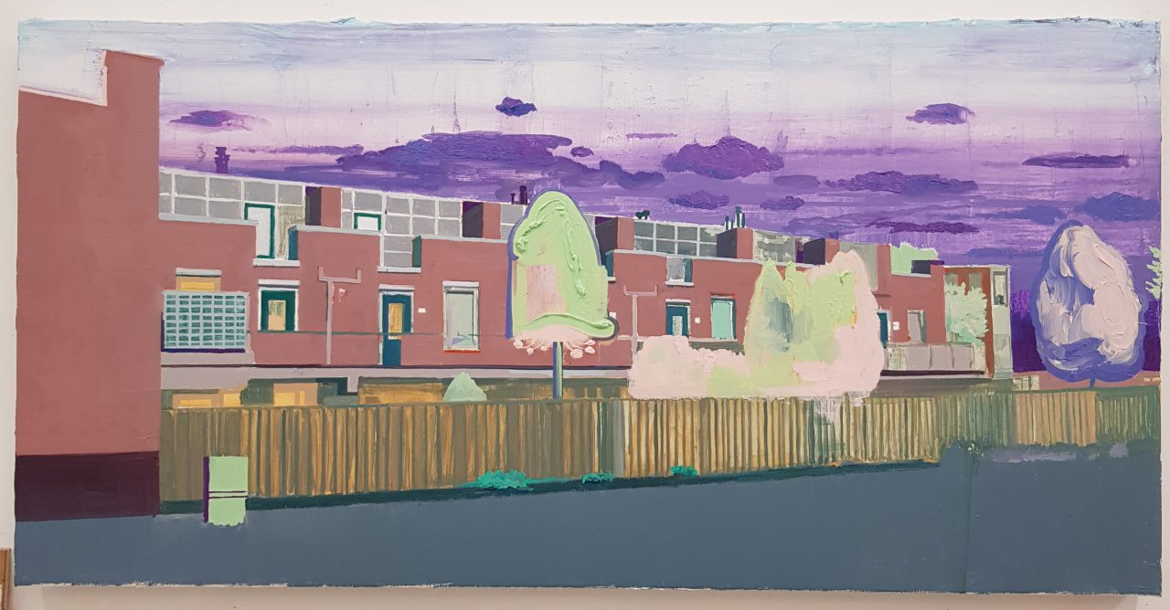 Terraced Houses, 2019. Oil on linen, 50x100cm