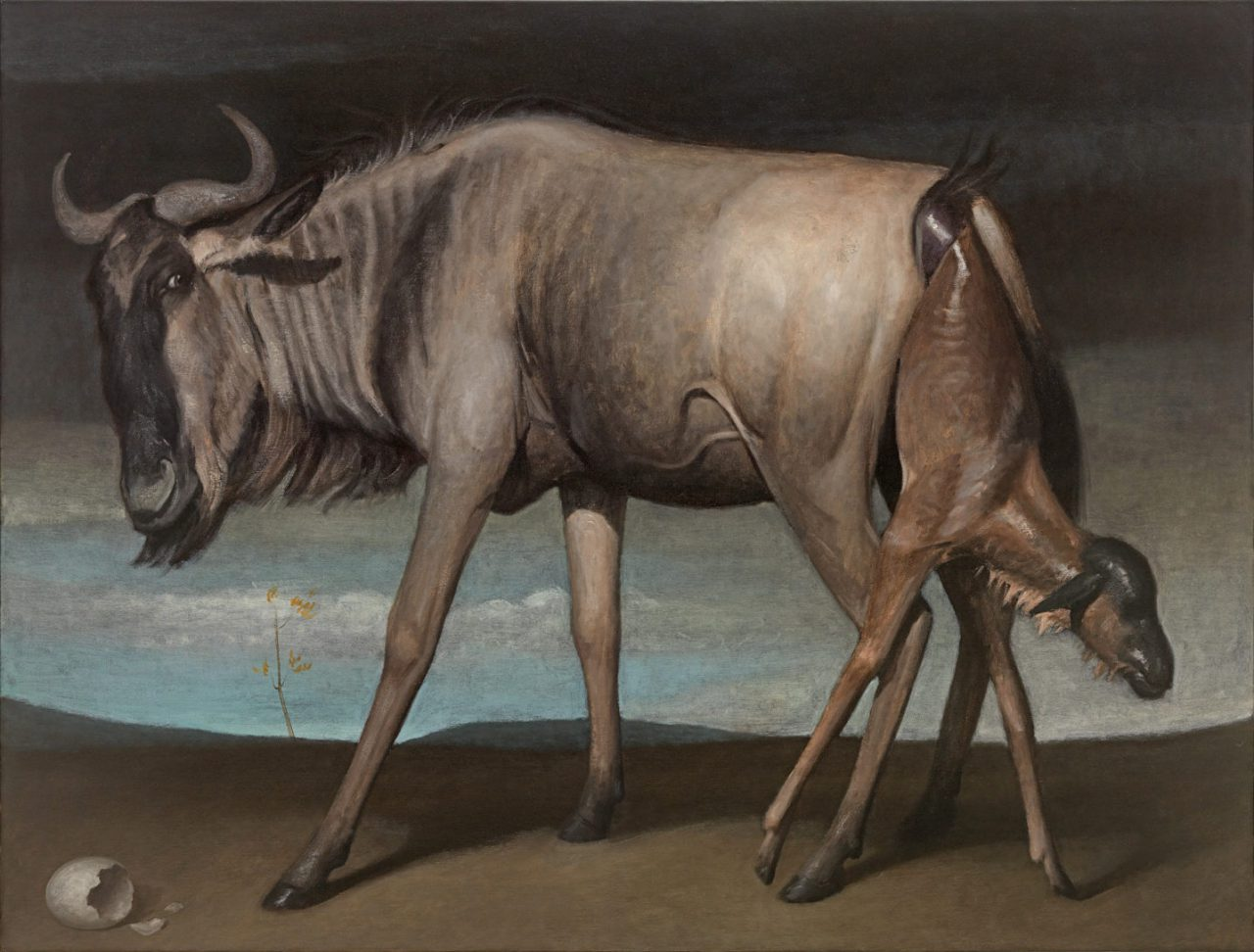 2 Gnus (Birth), Oil on Canvas,160 x 210 cm, 2016