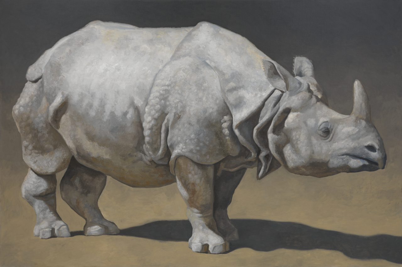Rhinoceros, Oil on Canvas, 200 x 300 cm, 2010