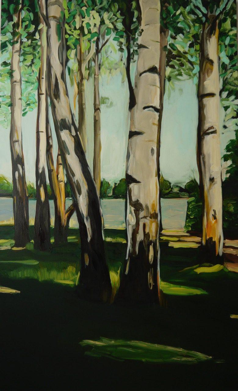 Die Liebermanns´schen Birken, 2016 , 180 x 120 cm, Öl auf Leinwand.jpg