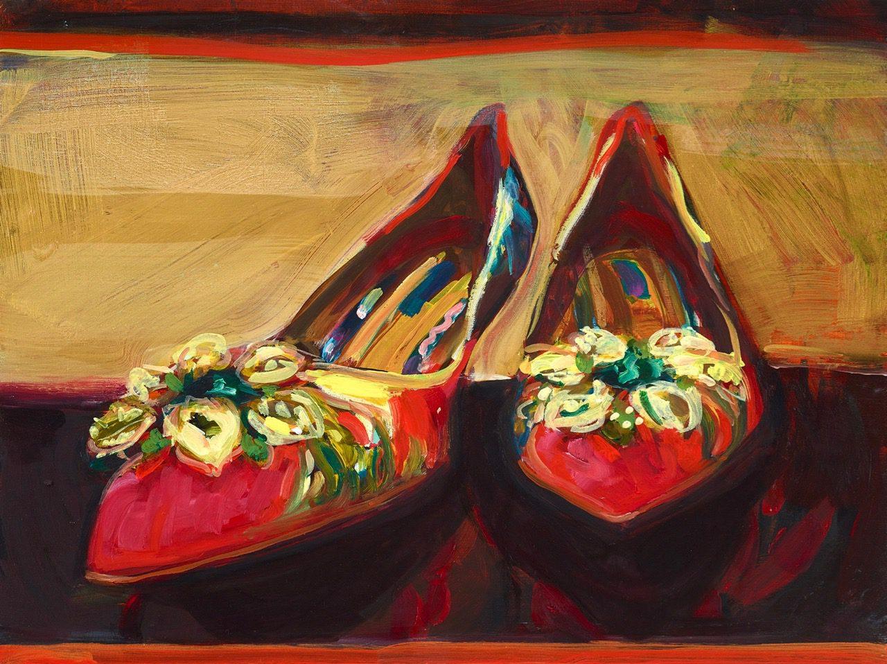 Killing me softly, Dolce &Gabbana, 2018, Öl und Gold auf Holz, 30 x 40 cm
