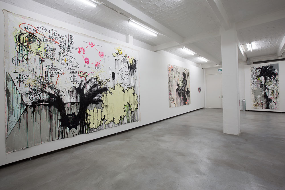 View of solo show ANTICIPATION by Alexei Kostroma at Kuenstlerhaus Bethanien. 2014. Photo by Vladimir Sichov