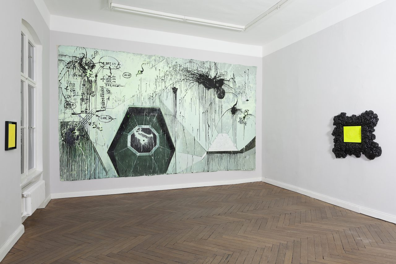 View of the solo show TIME OF PIGGY at 401contemporary in Berlin, 2016