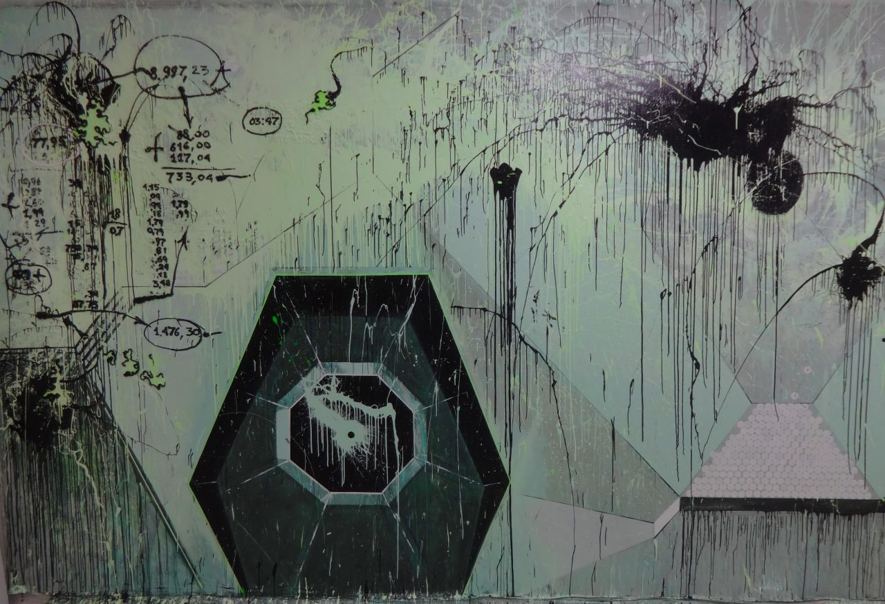 Alexei Kostroma. MEMBRANE. 2015 / Oil, acrylic on canvas, 300x500cm