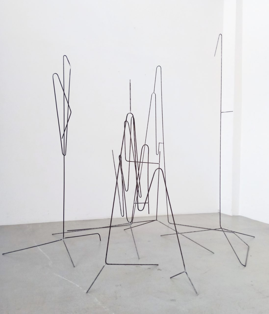 Le Squad, 2019, studio view, sculpturedrawings family