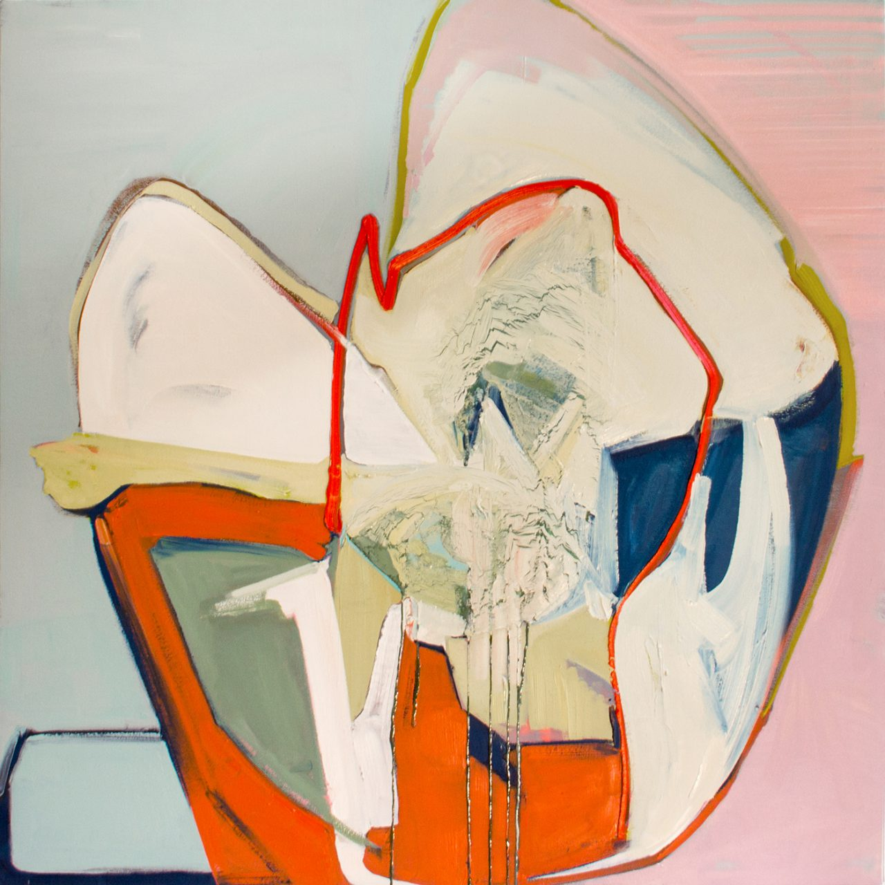 HERMES N° 0,3428 / OIL ON CANVAS / 100 x 100 cm