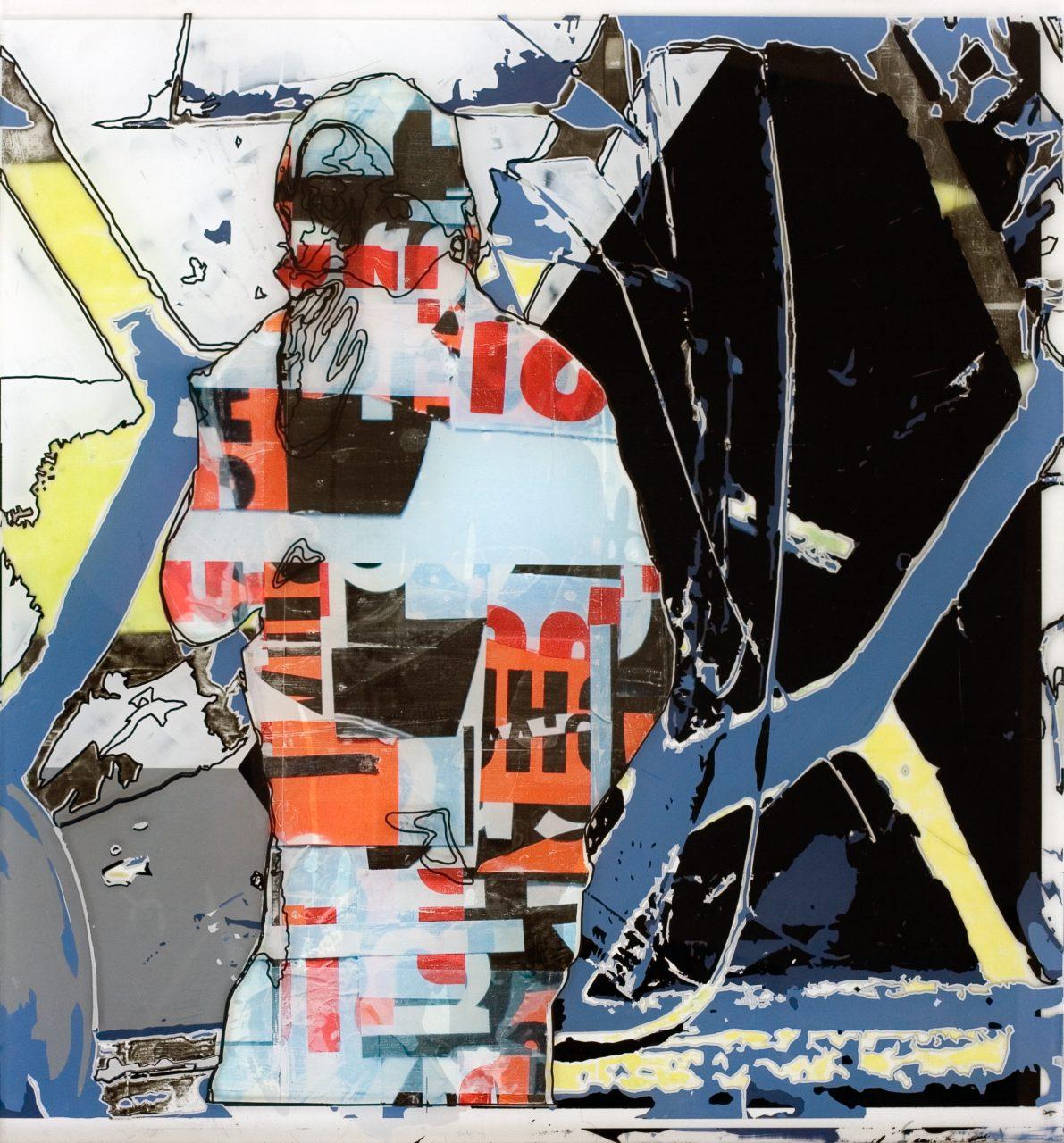 ME, 75cm x 70cm x 0,6cm, 2015 / Acrylic paint, image transfer on acrylic glass