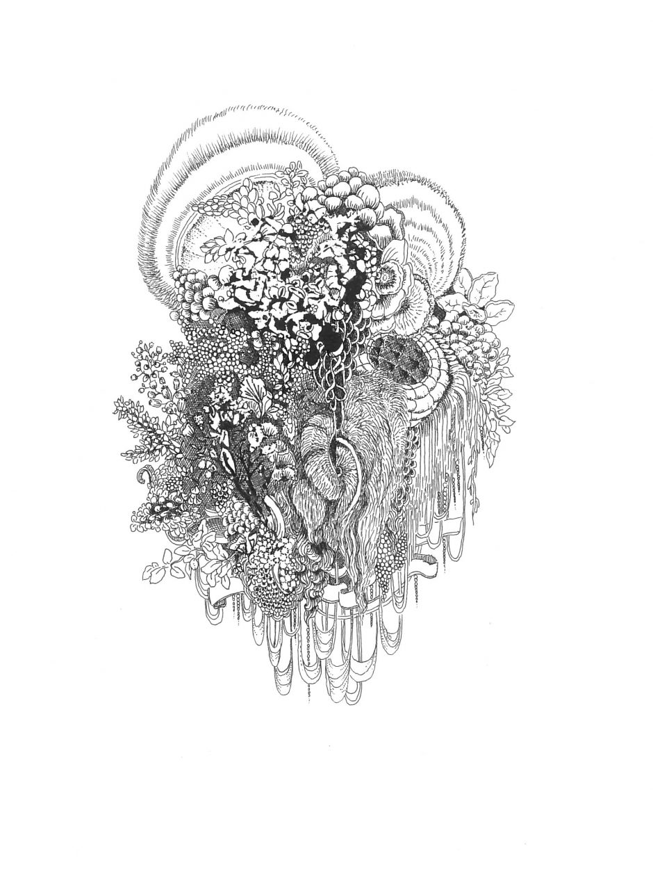Angelik Arendt, Symbiose, 2019, Tusche auf Papier