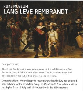 LONG LIVE REMBRANDT | Point With Two Circles by Alexei Kostroma at Rijksmuseum in Amsterdam, 15.07 – 15.09.2019 Image