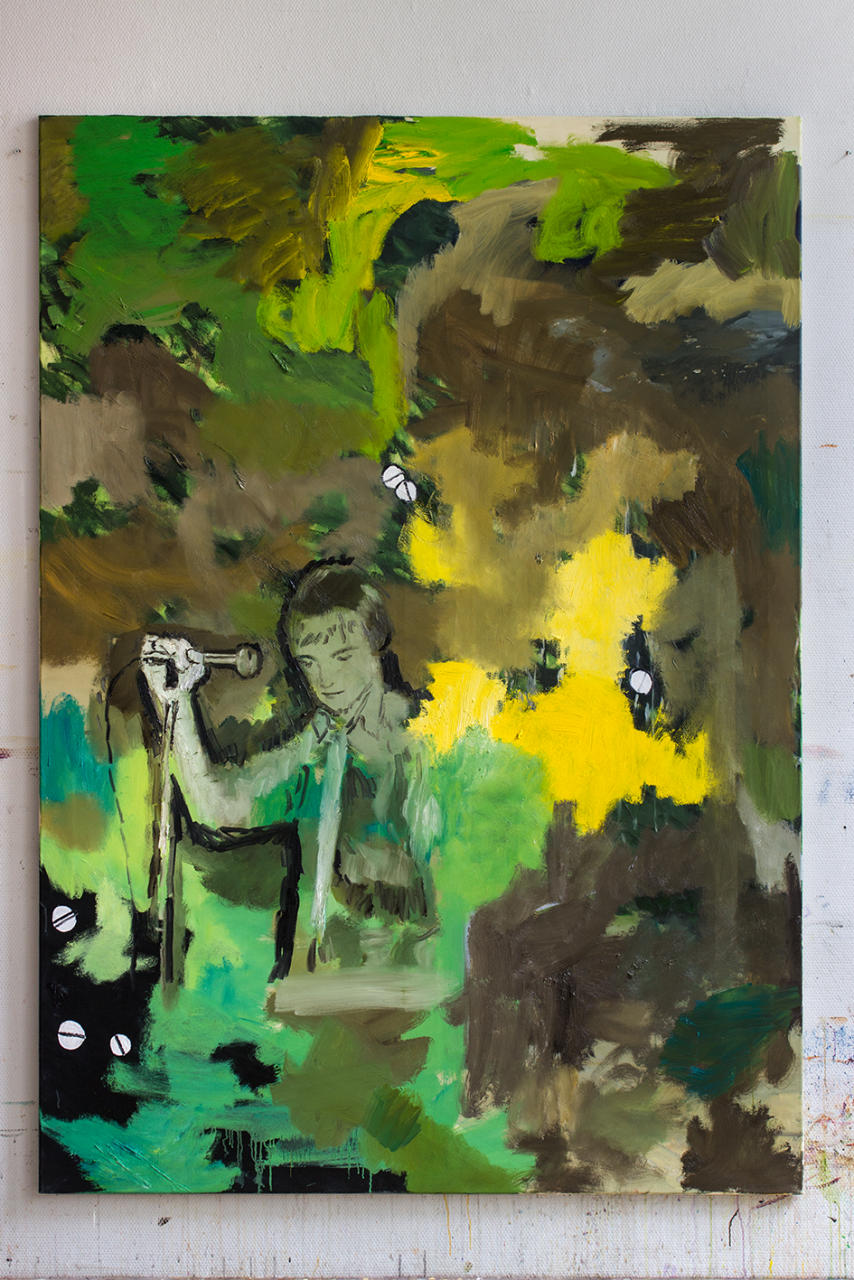 Bushes are in disagreement with the heat 2019 - 200 x 140cm, oil on canvas