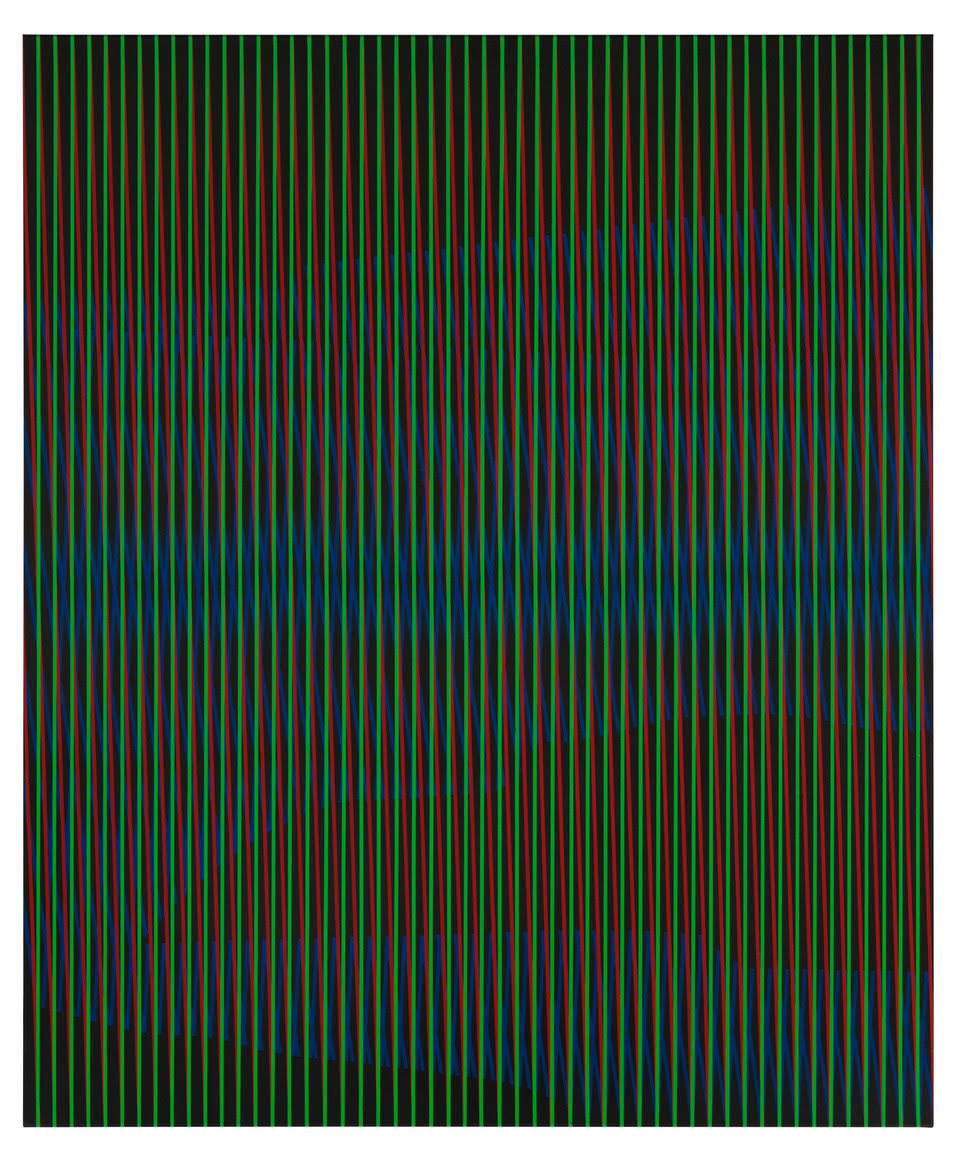 untitled, 2019, acrylic on cotton, 180 x 150 cm