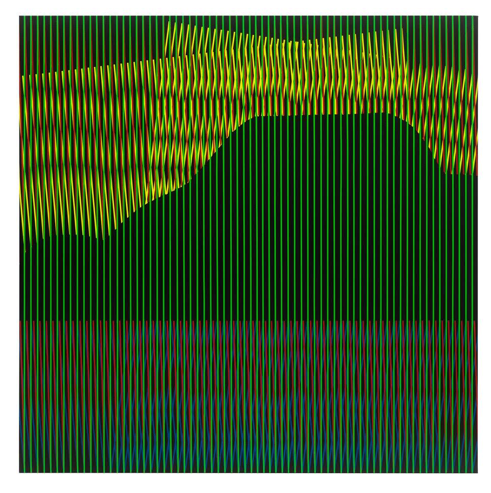 untitled, 2019, acrylic on cotton, 190 x 190 cm