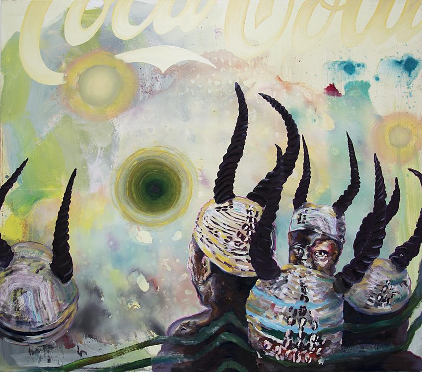 Beschwörung, 2019, Öl/Lwd., 150 x 170