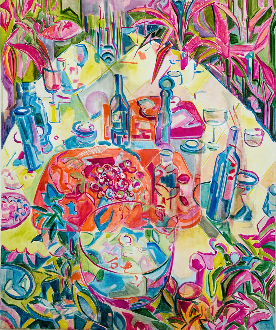 Luncheon, acrylic on canvas, 120x100cm, 2019