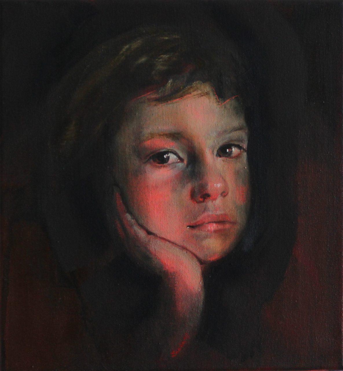 seven years ––– 30x28cm ––– 2019––– oil/acryl on canvas