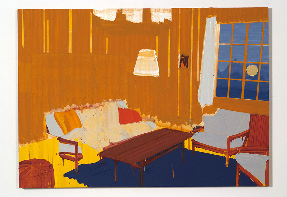 Arlesheim living room, 2008, oil on plywood, 100x140cm