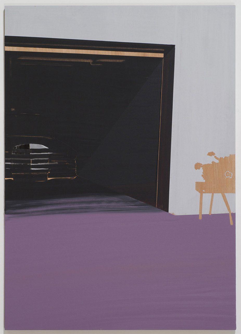 Purple into black, 2008, oil on wood, 140X100 cm
