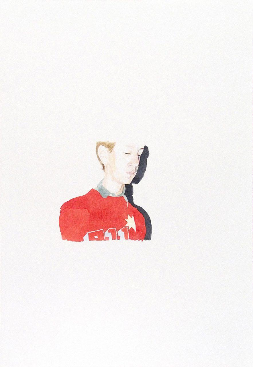 Melancholia (olaf), 2007, gouache on paper, 35x50 cm