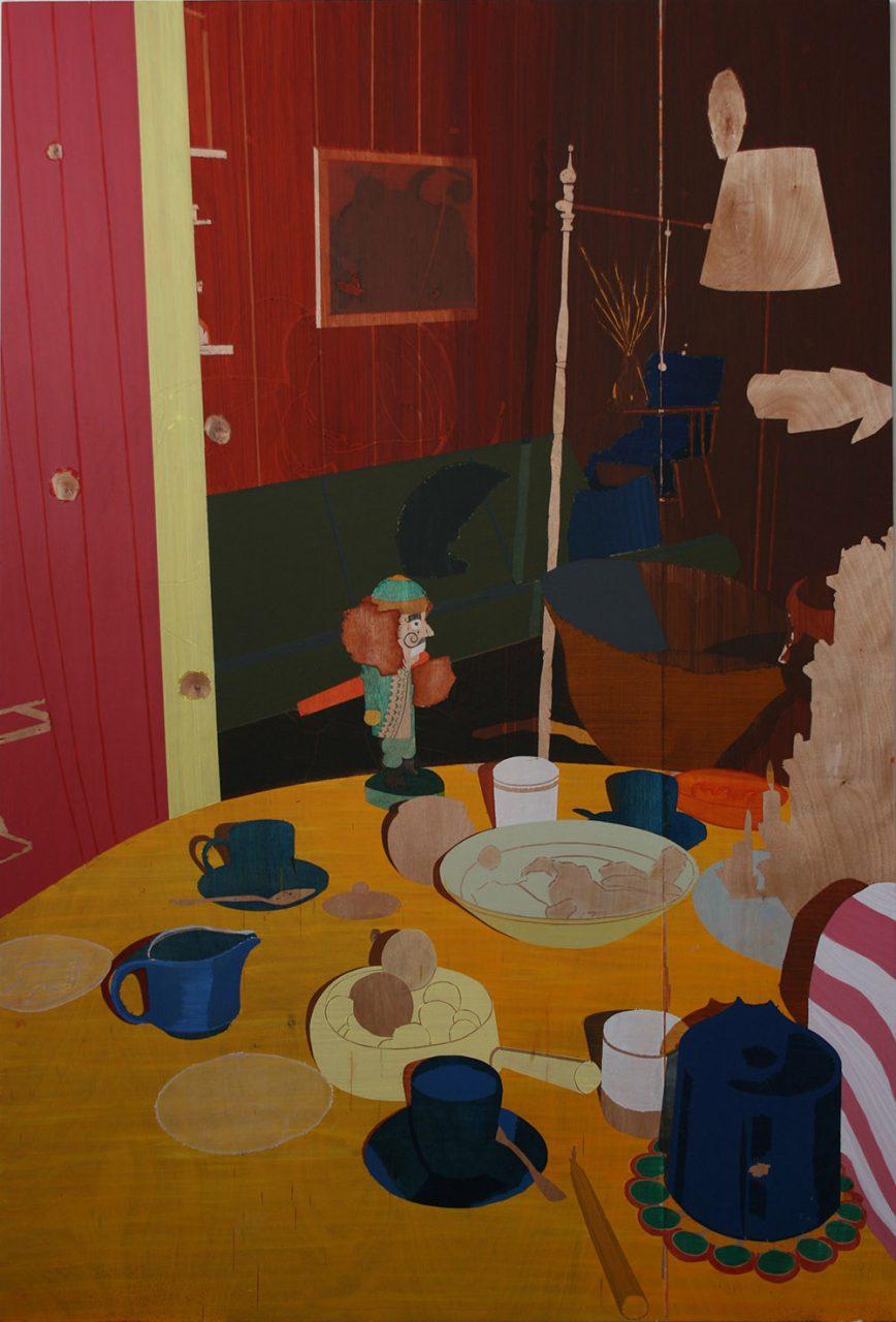 Nutcracker, 2007, oil on plywood, 244x160cm