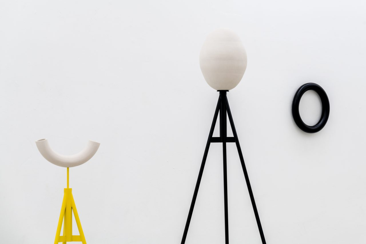 Couples, Passersby ... I sculptures I steel, ceramics, paint I 140/200 x 65/80 x 65/80 cm
