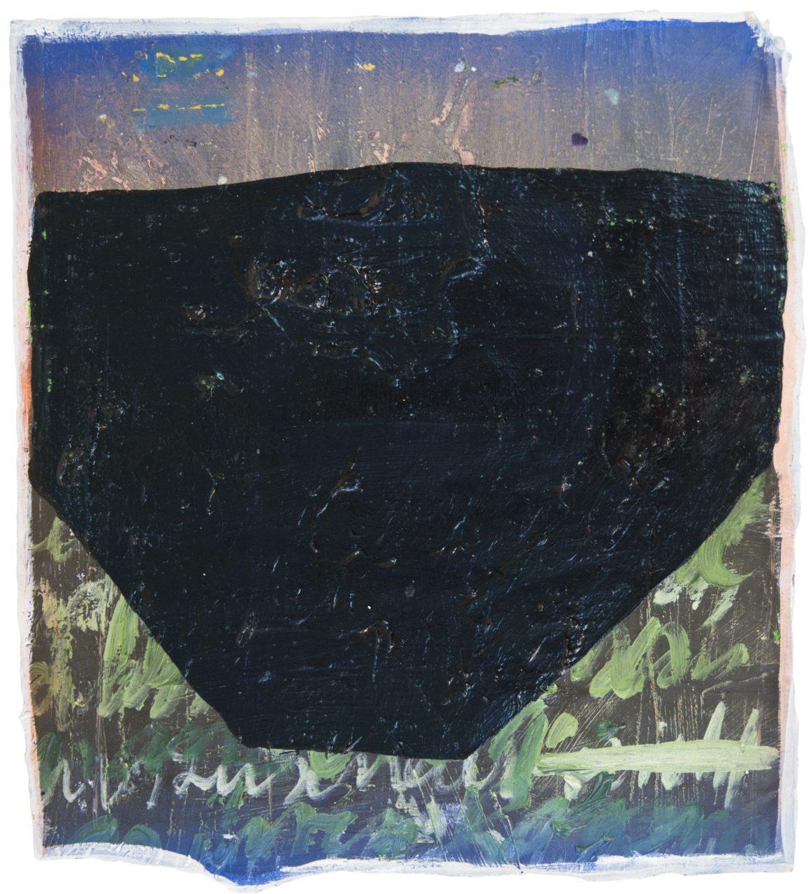 Alphabet P, 2017, oil on paper, 33 x 30 cm