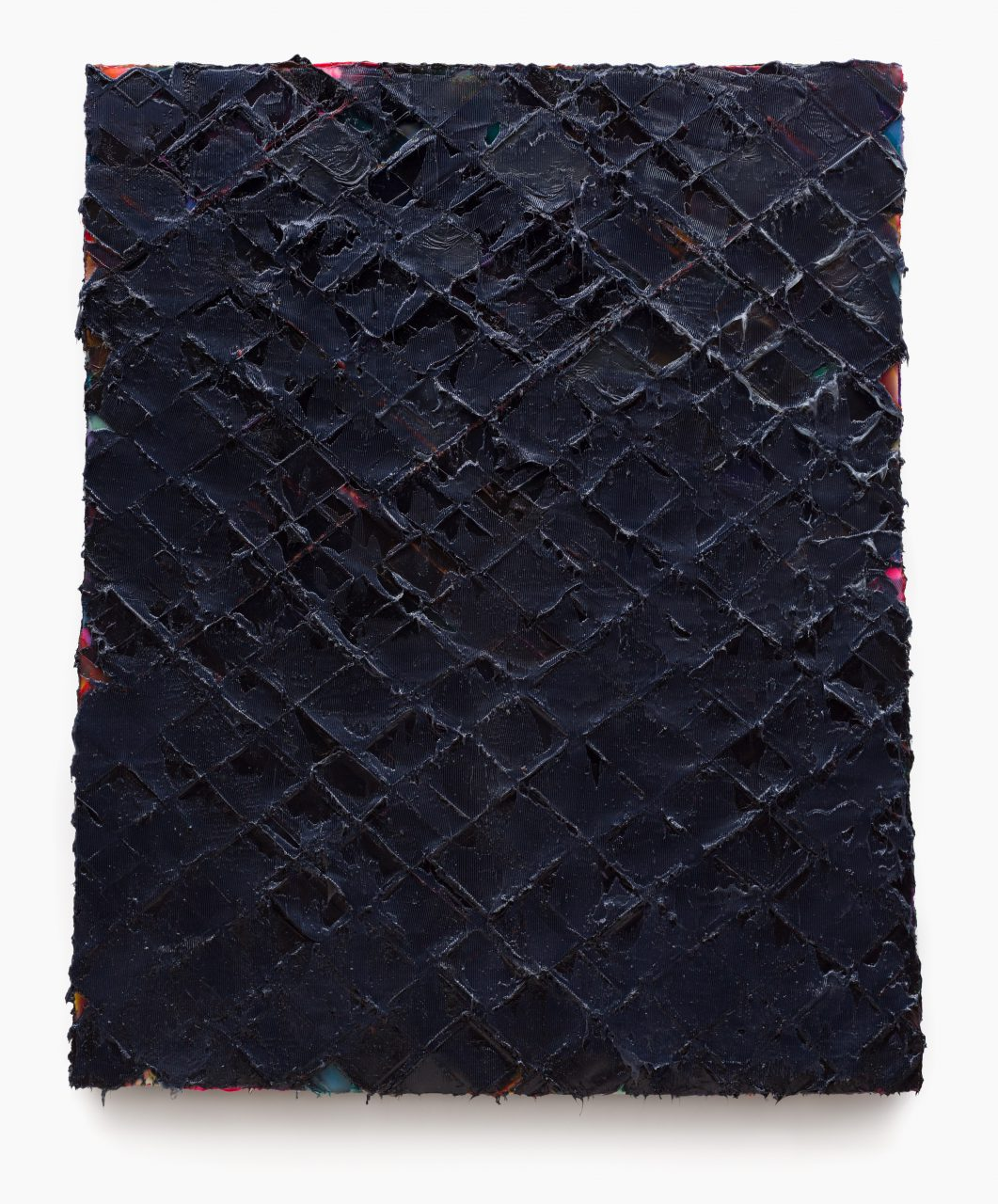 Ollycodd, 2014, Silicone and Pigments on Honeycomb Board, 167 x 138 cm