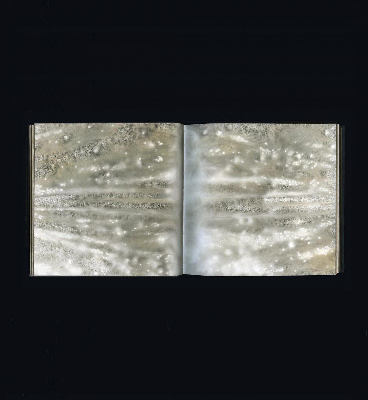CARBON, sketchbook 2007–17 carbon deposit on bound paper 20.0 x 40.0 cm