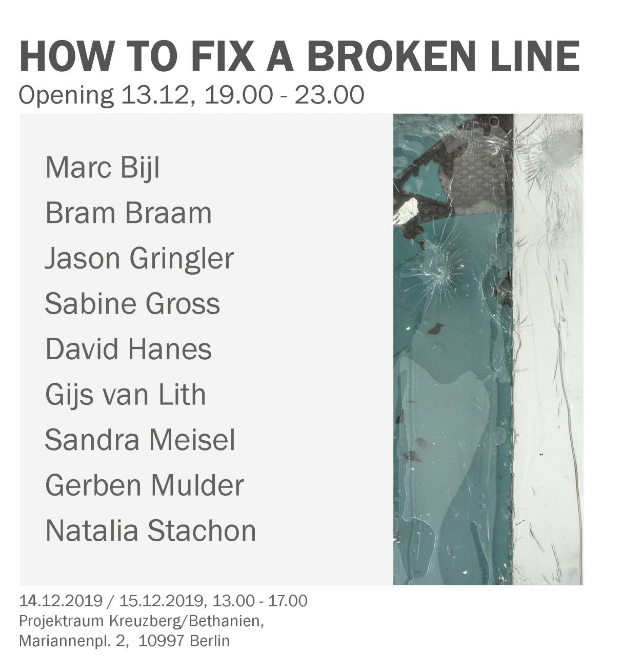How to fix a broken line