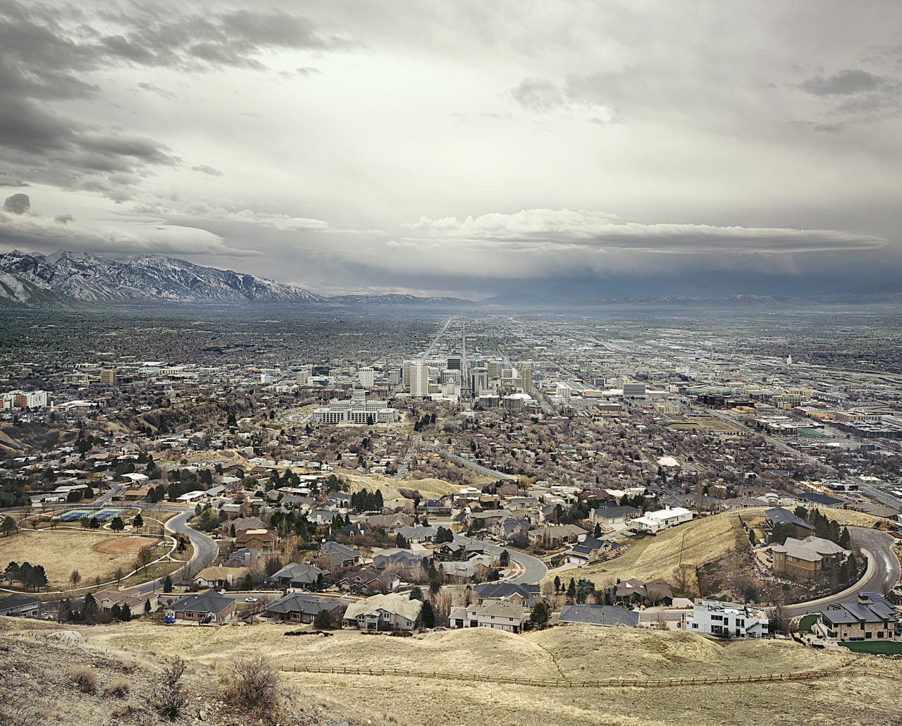 Salt Lake City from the series Land of Dreams 2018 C-Print, Diasec 200 x 245 cm