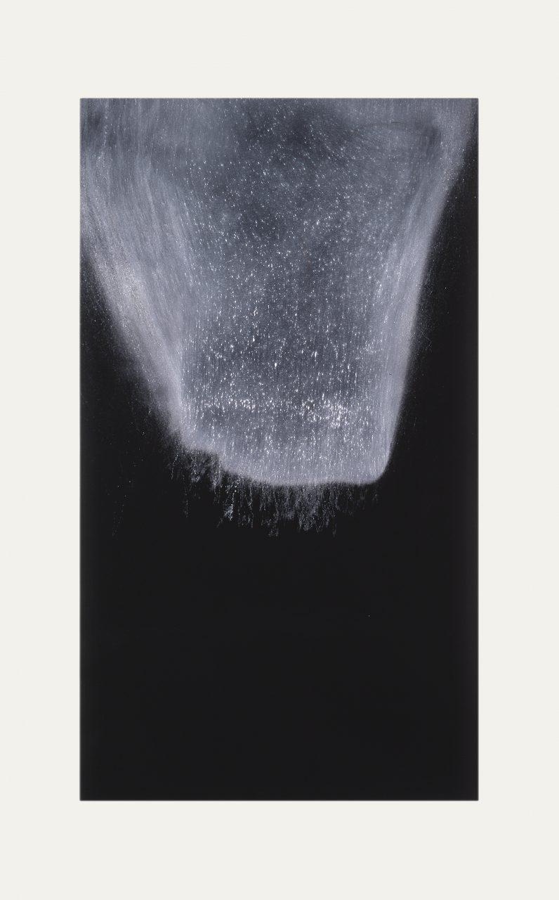 ENCROACHING VISTA, 1997 limestone powder on carbon deposit 114.4 x 76.3 cm
