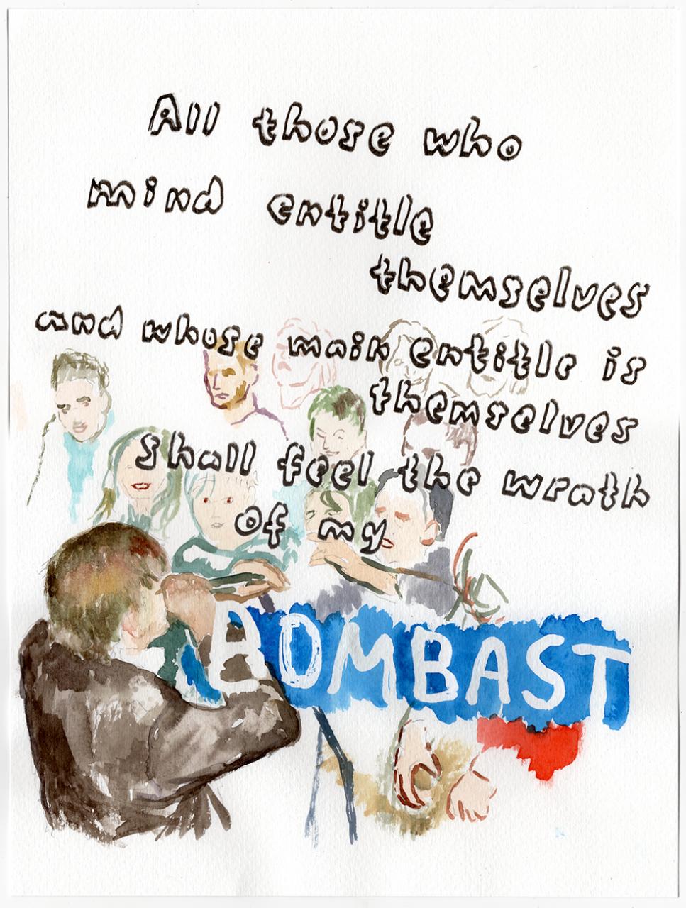 Bombast 2020 - 29,7 x 21cm, watercolour, pencil, pen on paper