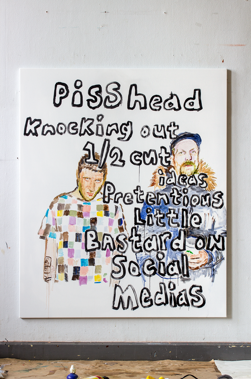 Social Medias 2019 – 150 x 125cm, acrylic on canvas