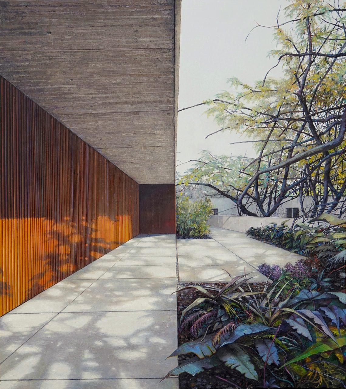 the garden - 180 x 160cm - Öl / Lw. - 2018
