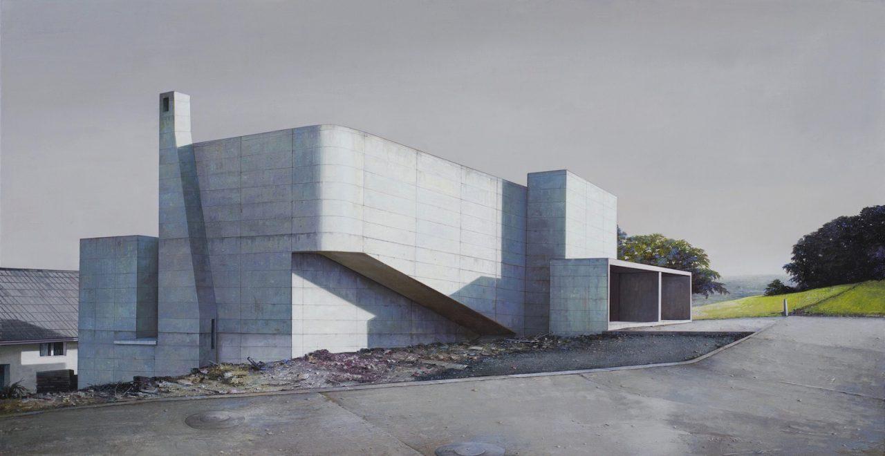 Modern house, nr. 24 - 135 x 260cm - Öl / Lw. - 2016