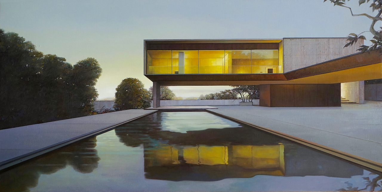 Modern house, nr. 27 / Twilight - 105 x 210cm - Öl / Lw. - 2019