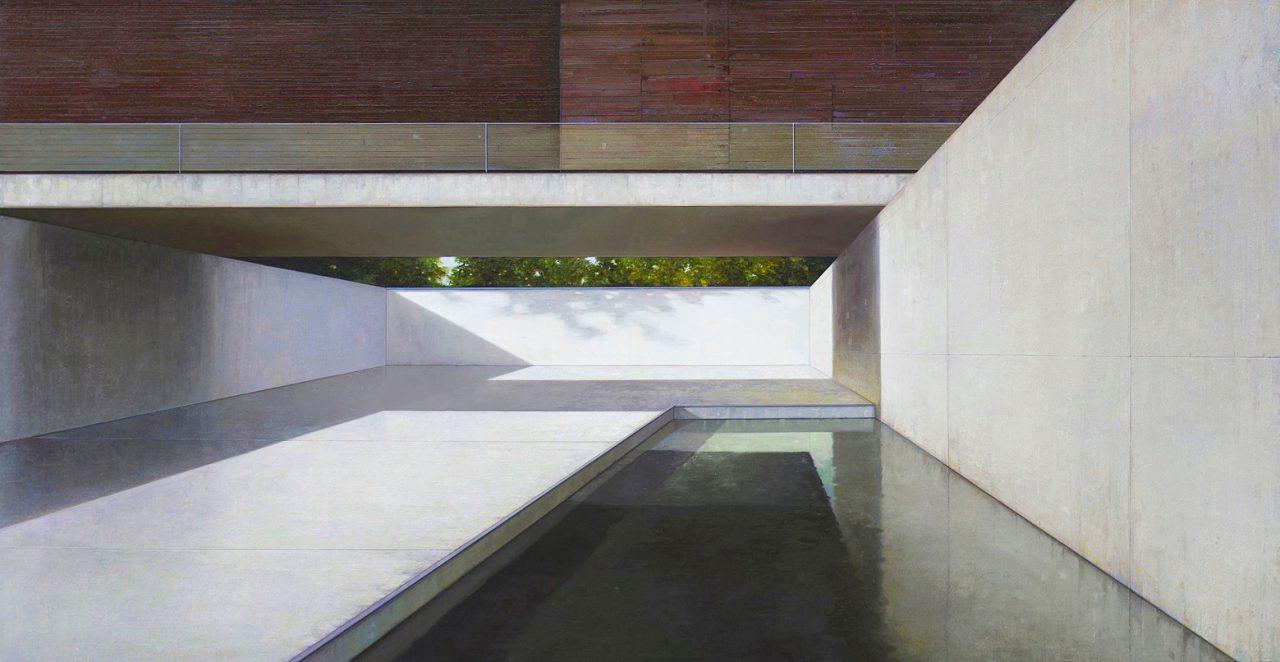 modern house, nr. 25 - 145 x 280cm - Öl / Lw. - 2016