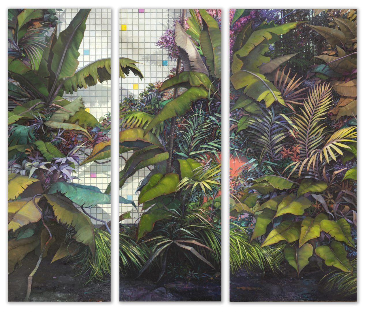the garden / Ed in Arcadia ego - gesamt 300 x 340cm - Öl / Lw. - 2018