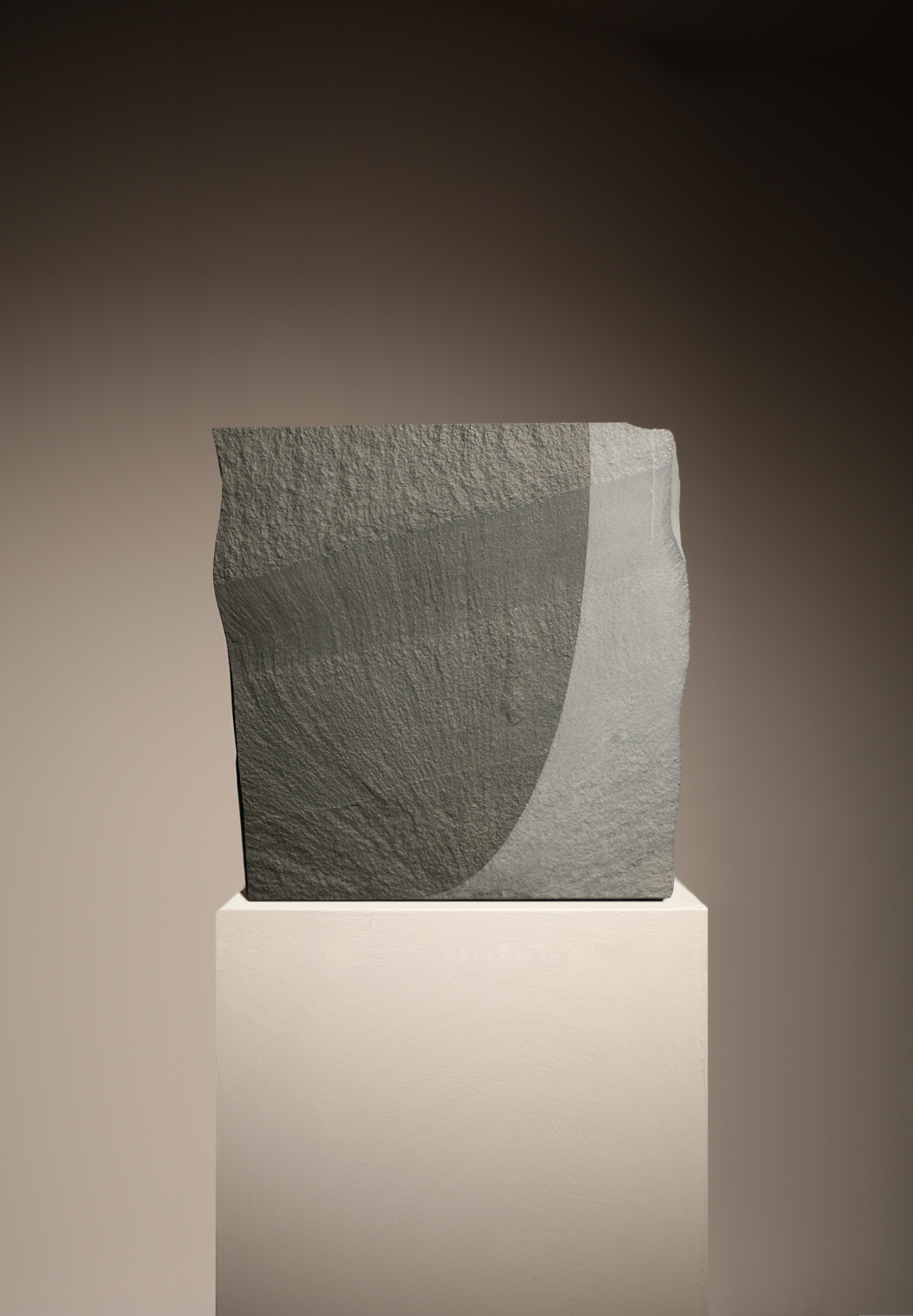 GATHERED BY EROSION (threshold with ripple) 2000, eroded Cumbrian slate, 34.7 x 34.7 x 4.7 cm