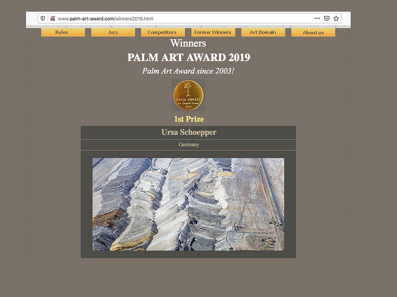 PALM  ART  AWARD  2019  1. PREIS