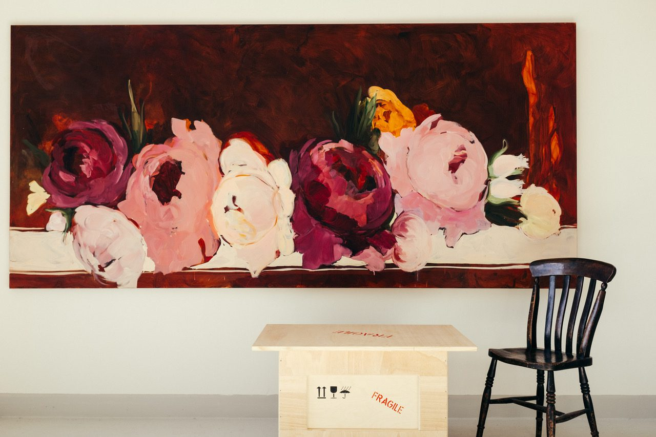 Und hätte die Liebe nicht, 2011, Öl auf Leinwand, 135x300cm
