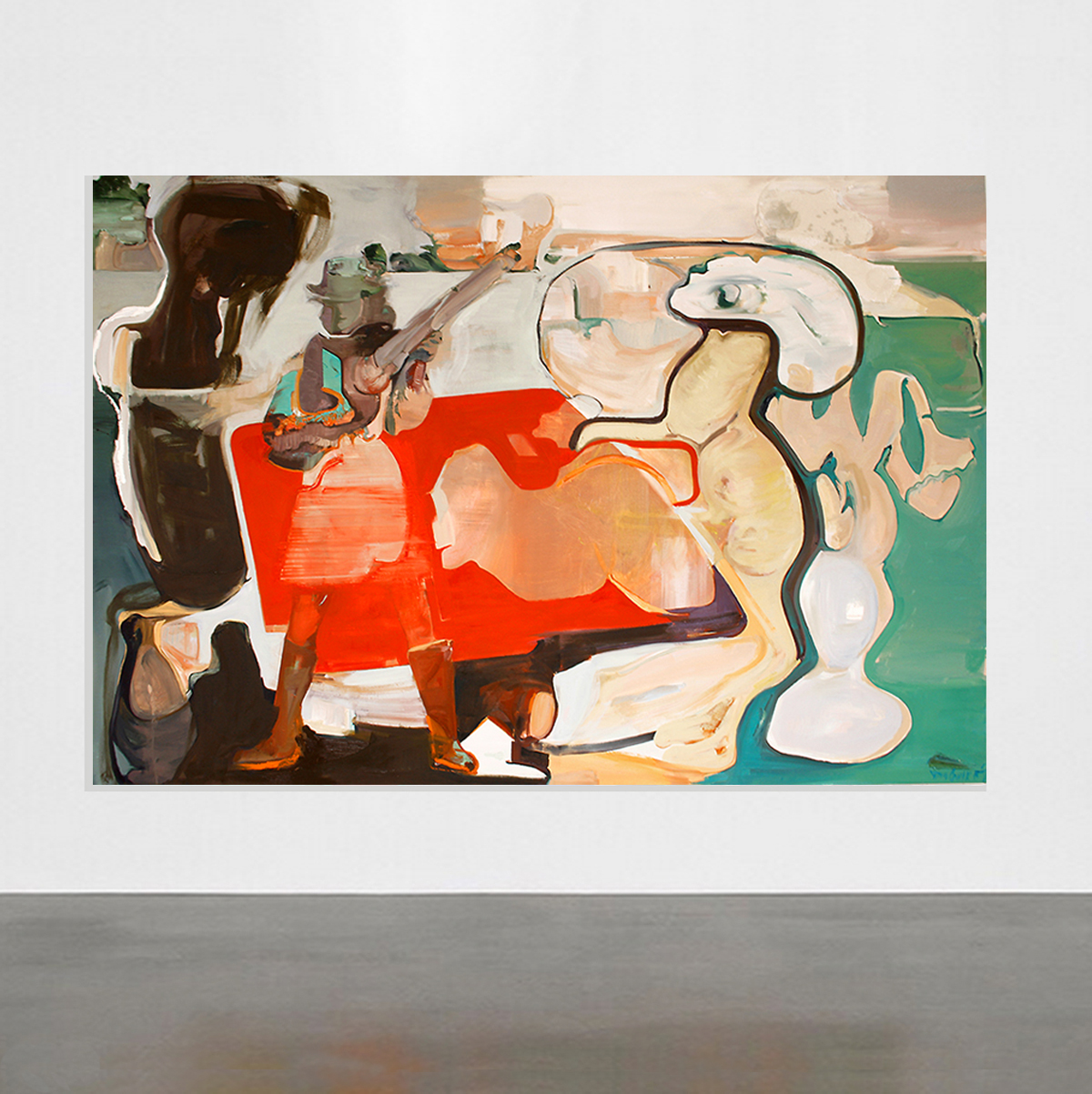 Zu Tisch N° 11, oil on canvas, 160 x 210 cm @ Hafentor 7 / 2014