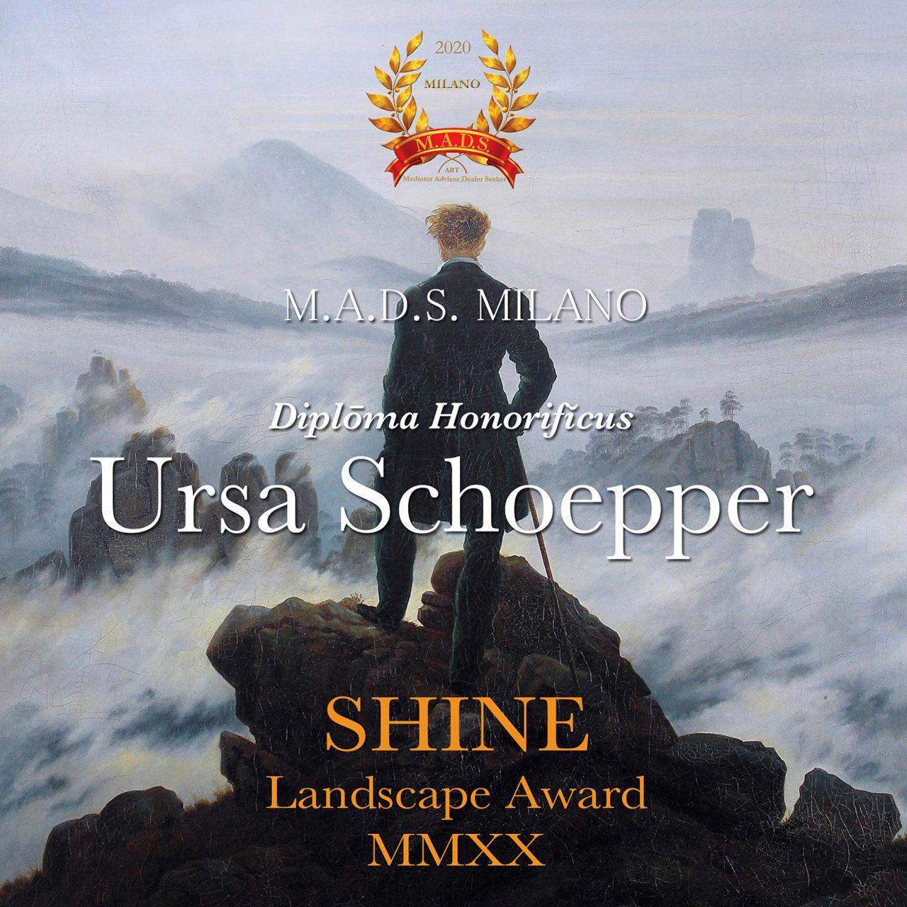 Diploma Honorificus, Shine, Landscape Award 2020