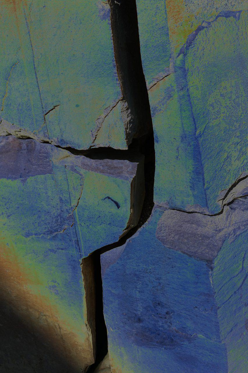 Verbund,  Experimental Fine Art Photography, Farbpigment auf Aludibond, matt, 2020, 120 x 80 cm, Unikat, rückseitig signiert