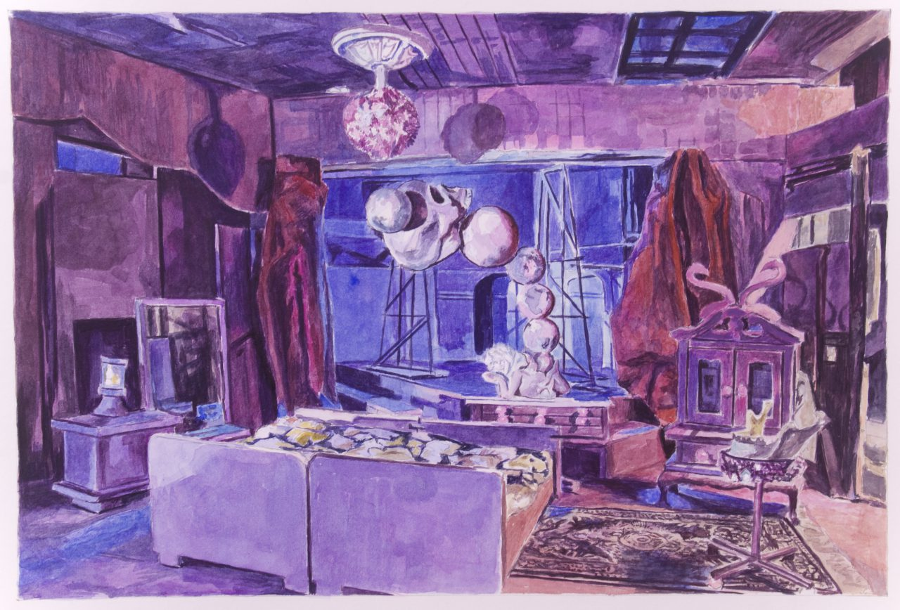 Alexander Schellbach | Pretty Flamingo | Watercolor on Paper