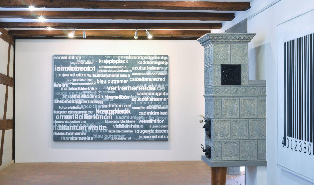 Palette | Anton Berta Cäsar, Worte, Zeichen, Notationen, Hesse Museum Gaienhofen, Germany, 2017